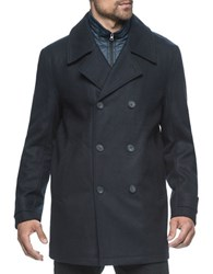 Marc New York Cushing Double Breasted Pea Coat Ink