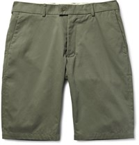 Private White V.C. Slim Fit Ecoseama Cotton Chino Shorts Army Green
