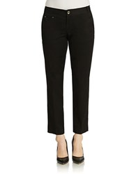 Lord And Taylor Kelly Cropped Ankle Pant Black