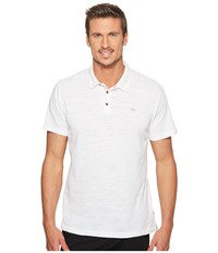Quiksilver New Everyday Sun Cruise Polo White Short Sleeve Knit