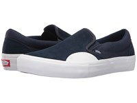 Vans Slip On Pro Rubber Dress Blues White 1 Men's Skate Shoes Navy