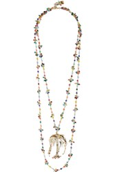 Rosantica Rosarietto Amore Gold Tone Beaded Necklace One Size