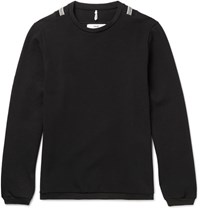 Oamc Slim Fit Cotton Blend Sweater Black