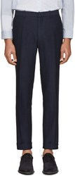 Burberry Navy Summer Tweed Trousers