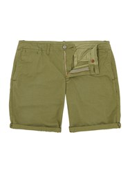 Scotch And Soda Men's Garment Dyed Twill Shorts Army