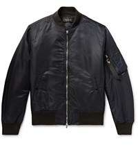 Rag And Bone Manston Nylon Bomber Jacket Black