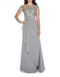 Decode 1.8 Embroidered Wrap Gown Grey