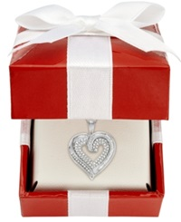 Macy's Diamond Baguette Heart Necklace In 10K Yellow Or White Gold 3 8 Ct. T.W.