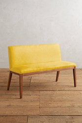 Anthropologie Linen Emrys Bench Yellow