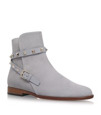 Valentino Rockstud Strap Boots Female Light Grey