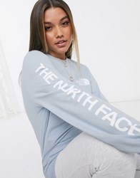 The North Face Sleeve Hit Long Sleeve T Shirt In Blue