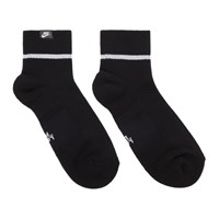 Nike Two Pack Black Essential Snkr Socks