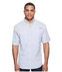 Columbia Tamiami Ii S S Cool Grey Men's Short Sleeve Button Up Gray