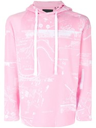 Blood Brother Projection Hoodie Pink