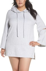 Make Model Plus Size All The Stops Hoodie Grey Dusk Heather