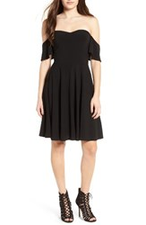 Leith Women's Off The Shoulder Fit And Flare Dress