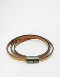 Mister Wraparound Bracelet Brown