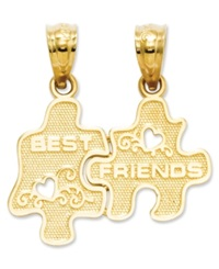 Macy's 14K Gold Charm Best Friends Puzzle Break Apart Charm
