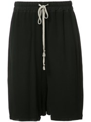 Rick Owens Knee Length Shorts Black