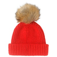 Whistles Alpaca Mix Knitted Hat Red