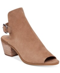 Lucky Brand Women's Bray Buckle Slingback Peep Toe Booties Women's Shoes Sesame