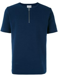S.N.S. Herning Handle T Shirt Men Cotton Polyester L Blue