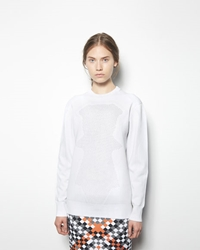 Alexander Wang Optical Mesh Pullover Chalk Black On Reverse