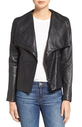 Bb Dakota Women's Newell Washed Leather Jacket Black