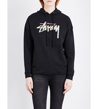 Stussy Stock Fade Stretch Cotton Hoody Black