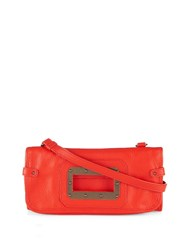 Tomas Maier Fold Over Leather Cross Body Bag