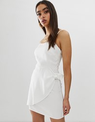 Fashion Union Cami Dress With Buckle Detail Cream