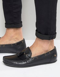 Frank Wright Nevis Loafers In Black Leather Black