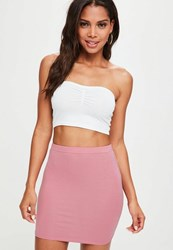Missguided Pink Jersey Mini Skirt Mauve