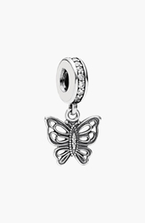 Pandora Design 'Love Takes Flight' Butterfly Dangle Charm Sterling Silver