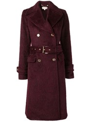 Michael Kors Collection Double Breasted Coat Red