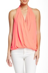Eight Sixty Backless Draped Halter Top Orange