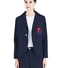 Marvielab Wool Short Jacket Navy