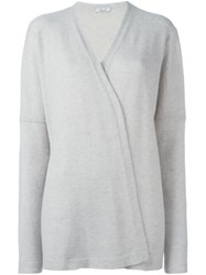 Fashion Clinic Long Sleeved Cardigan Grey