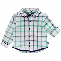 Chateau De Sable French Designer Classic Checked Shirt Green