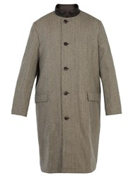 Christophe Lemaire Reversible Contrast Collar Wool Coat Grey