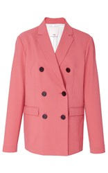 Tibi Double Breasted Rose Blazer Pink