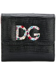 Dolce And Gabbana Logo Plaque Wallet Black