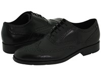 Rockport Proper Place Almartin Black Leather Men's Lace Up Wing Tip Shoes