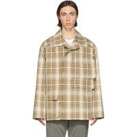 Maison Martin Margiela Ssense Exclusive Brown Table Cloth Jacket