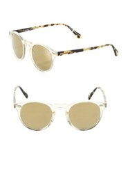 Oliver Peoples Gregory Peck 47Mm Round Sunglasses Yellow