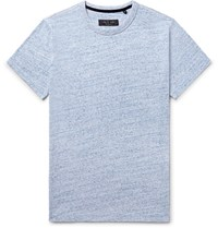 Rag And Bone James Melange Cotton Jersey T Shirt Blue