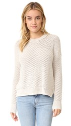 Madewell Pop Seed Stitch Thea Pullover Pale Muslin