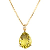 Emily Mortimer Jewellery Aqua Lemon Quartz And Diamond Necklace Yellow Orange