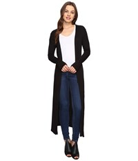 Culture Phit Lynsey Button Up Long Cardigan With Slits Black Women's Sweater