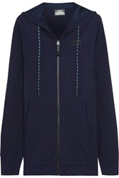 Lndr Coach Stretch Jersey Hooded Top Midnight Blue